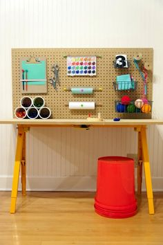How-To: Kids Crafting Station