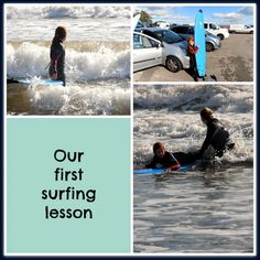 Our first surfing lesson