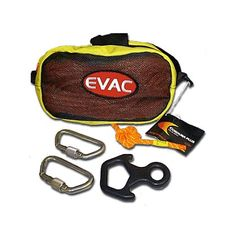 EVAC Systems: Bail-Out Bag Kit, 50ft Rope, 2 Carabiners, 1 Descender #TheFireStore