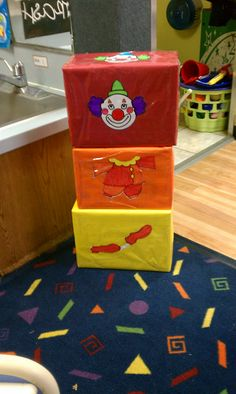 A Day At The Circus- Clown miss-matching boxes! I change to go with every theme I do.