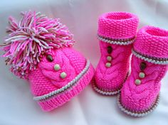 P A T T E R N Knitting Baby Set Baby Shoes Knitted by Solnishko43