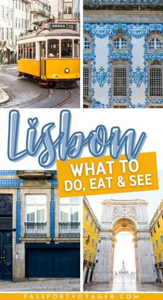 Planning a trip to Lisbon, Portugal and want to make the most of your travel experience? Let us show you the best things to do, where to explore, and what to eat in this gorgeous, walkable city! Whether you're traveling solo, with family, or with a group of friends, this Lisbon travel guide will have you booking a ticket to visit Portugal in no time. #lisbon #portugal #lisboa #travelguide #traveltips #solotravel #travelplanning #travelhacks @welovelisbon @visitportugal @raileurope Portugal Vacation, Portugal Travel Guide, Europe Travel Guide, Spain Travel, Travel Guides, Travel Destinations, Visit Portugal, Spain And Portugal, Bucket List Europe