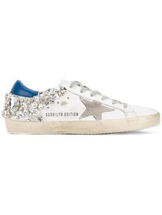 Shop Golden Goose Deluxe Brand crystal embellished 'Superstar' sneakers.