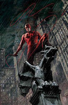 """""""Hell's Kitchen is my neighborhood. I prowl the rooftops and alleyways at night, watching from the darkness. Forever in darkness. A guardian devil.""""~Daredevil"""