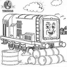 Haunted house Thomas n friend coloring pictures to color happy ...