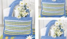 Daisy Inspired Crochet Shopping Tote [FREE Crochet Pattern]