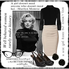 Wisdom by Marilyn, created by kristikay50 on Polyvore