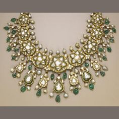An Indian enamel, diamond and gold necklace