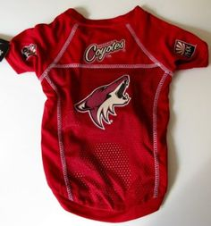 Dont forget about your furry friends this #Halloween. Check out this Dog Hockey Jersey. #Coyotes
