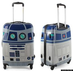 R2D2 luggage. I hope my daughter is a Star Wars geek just like her daddy. She would look sooo adorable.