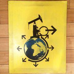"""Engineering Extinction aerosol on canvas) available online"" / Recycled Propaganda"