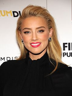 amber heard red carpet hair and makeup
