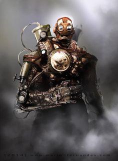steam punk iron man by  Mario Fernandes