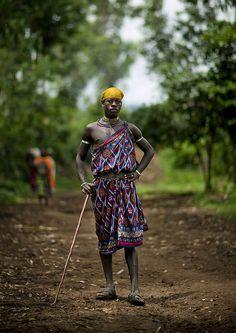 #Menit tribe man - #Omo Ethiopia  Eric Lafforgue