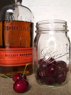 Cherry Vanilla old-fashioned, with cherry infused bourbon