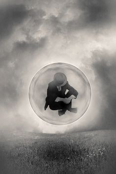 Surreal Photography by Tommy Ingberg..Alone in the bubble