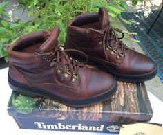 ViNtAgE 90's ReTrO TIMBERLAND Katonah Leather Hiking Backpack Trail Boots Shoes #Timberland #Booties #WalkingHiking