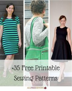 35+ Free Printable Sewing Patterns | AllFreeSewing.com