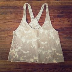 """VS open back tank top Open back mesh tank top from Victoria's Secret. Excellent condition. Perfect for the gym or beach. Cotton/modal/nylon/elastane. Total length is about 22"""". Armpit to armpit flat is 19"""". Victoria's Secret Tops Tank Tops"""