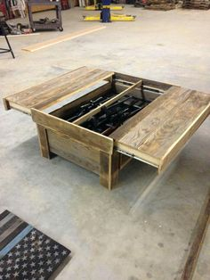 Hidden Gun Storage Coffee Table