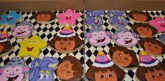 Dora birthday cookies