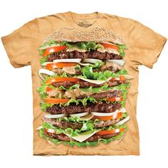 EPIC BURGER The Mountain Big Hamburger Cheeseburger Funny Food T-Shirt S-3XL NEW #TheMountain #GraphicTee