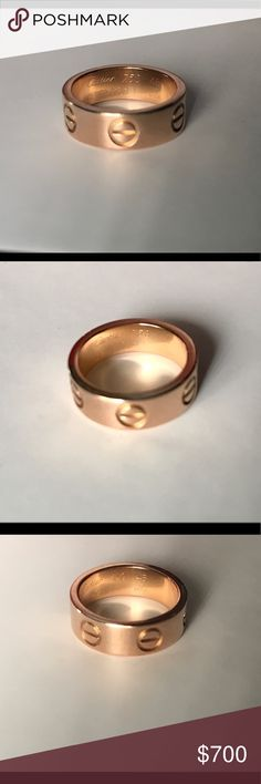 Cartier Love Ring 18k Rose Gold Cartier Love Ring 18k Rose Gold. Size US 3.25/ EU 45. Excellent Preowned Condition. No box or papers. Cartier Jewelry Rings