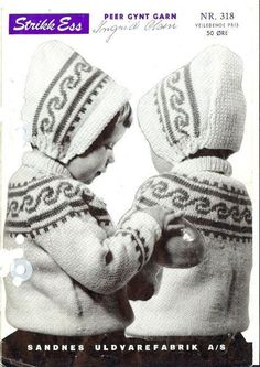 Berit 318 Knitting For Kids, Baby Knitting, Norwegian Knitting, Vintage Knitting, Baby Boy Outfits, Knitting Patterns, Baby Kids, Winter Hats, Crafts