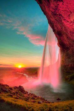 Waterfall - Sunset