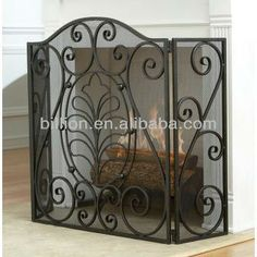 wrought iron fireplace screen design china factory supplier $2~$60