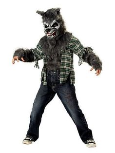Kids Wolf Costumes for Boys and Girls. Scary werewolf costumes and cute 'Big Bad Wolf' costumes.