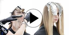 Video HOW-TO: Seamless Highlights #behindthechair #highlights #foil #blonde…
