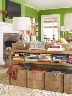 storage ideas for small living rooms - Google Search