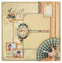 Try this June Place in Time layout with a printable project sheet #graphic45 #projectsheets #tutorials