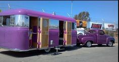 wow, purple truck and trailer for the win