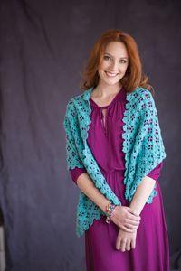 Capri Wrap - A unique, lacy #wrap pattern from Love of #Crochet magazine