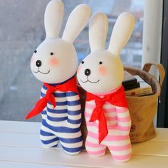 Lovers Handmade Animal Stuffed Rabbit Doll Sock Toy Sock DIY Kit Toy | Wholeport.com