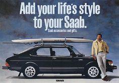 Lifestyle Saab 900 ad