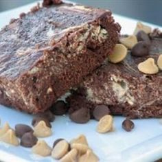 """Michelle's Peanut Butter Marbled Brownies 
