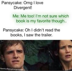 me with hunger games lol! im reading through the divergent books