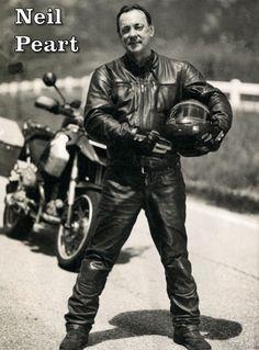 """Neil Peart - legendary drummer AND Motorcyclist """"shunpiker"""""""