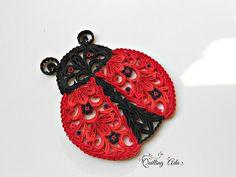 Ladybug-Paper Ladybyg-Quilled Ladybug-Ladybug ornament-Party