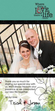 #Wedding Thank You 4x8 Enchanted #Digital #Scrapbooking Card from Creative Memories    www.creativememor...