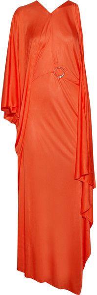 ROBERTO CAVALLI Asymmetric Draped Jersey Gown