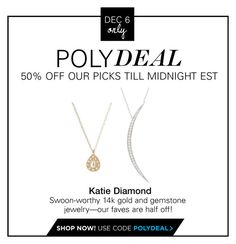 """""""PolyDeal: 50% Off Our Picks at Katie Diamond Jewelry"""" by polyvore-editorial ❤ liked on Polyvore featuring Katie Diamond"""