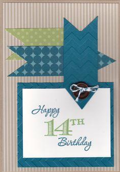 Teen Boy birthday card - memorable moments stamp set