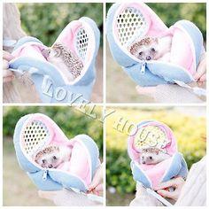 Rata Hamster Chinchilla Conejo Ferret Erizo saliente Paquete Bolsa Colgante Cama
