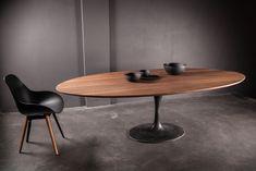 arnold de vinck - l'atelier - table inspiration ovale 1 pied