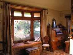 Restored bay window is perfect for a spot of music.