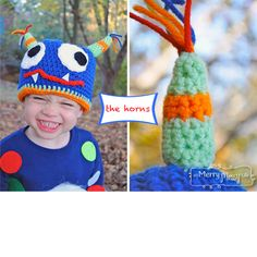 Crochet Monster Hat {free crochet pattern}